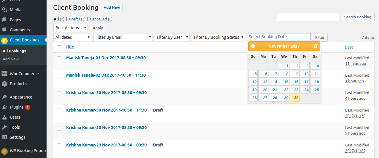 wordpress booking plugin wordpress advance booking calender reservation simple booking responsive quick booking