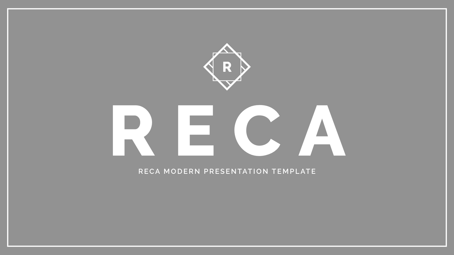 Reca Modern Google Slide Presentation Template