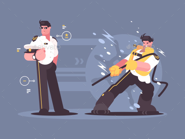GraphicRiver Captain of Cruise Liner in Uniform 21069315