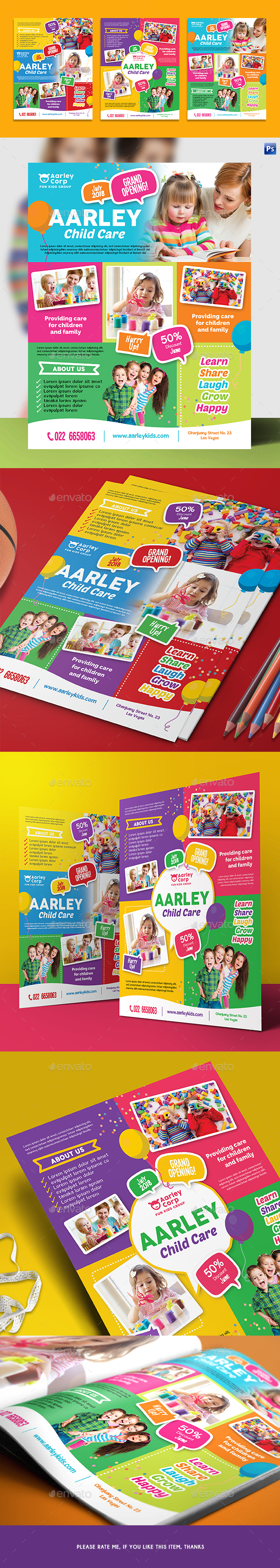 GraphicRiver Child Care Flyer 21069342