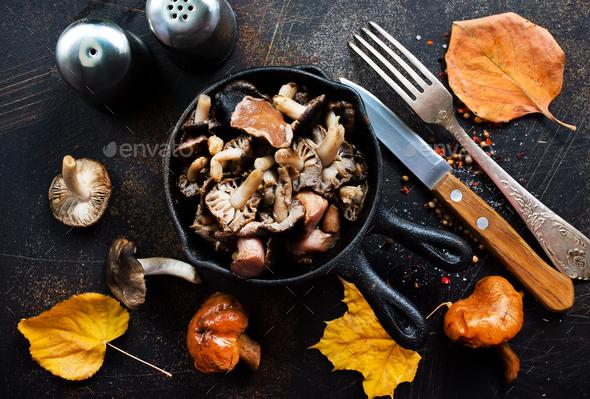 fried mushroom - Stock Photo - Images