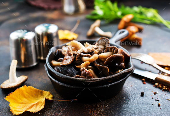 fried mushroom - Stock Photo - Images
