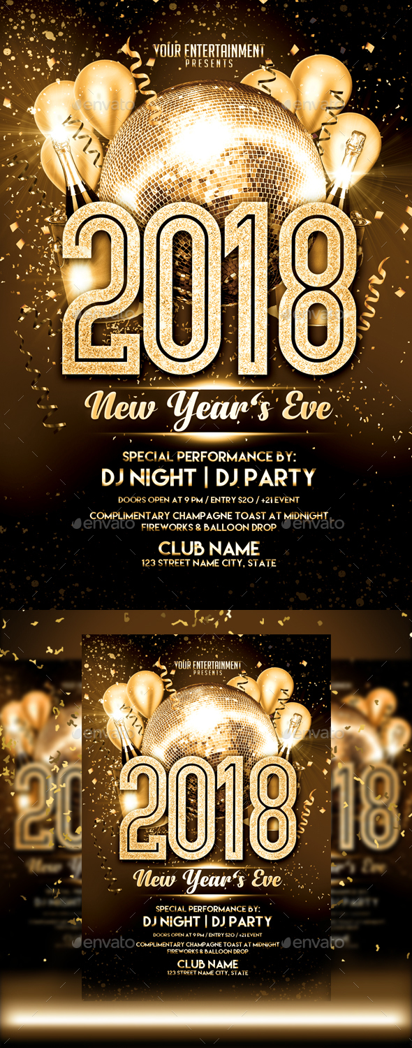 GraphicRiver New Year Flyer 21069380