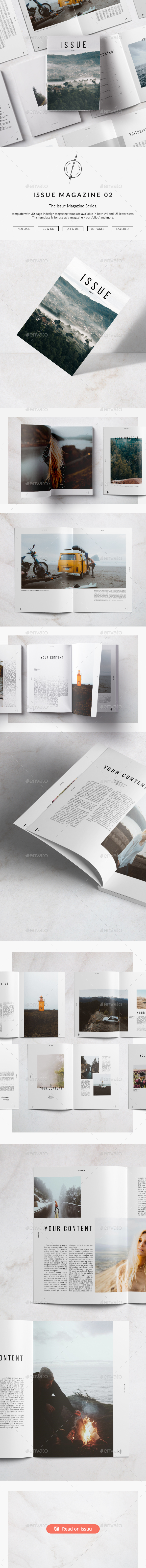 Issue Magazine 02 - Magazines Print Templates