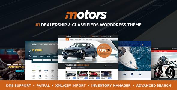 Motors - Automotive, Car Dealership, Car Rental, Vehicle, Bikes, Classified Listing WordPress...