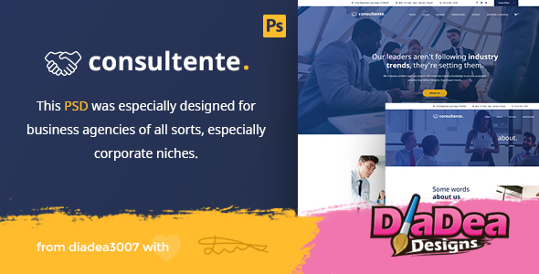 Consultente - Corporate Business & Agency PSD Template