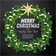 Christmas Wreath with Green Fir Branch