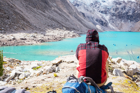 Hike in Peru - Stock Photo - Images