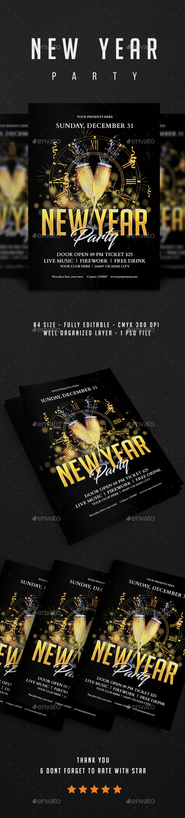 GraphicRiver New Year Flyer Vol.6 21069726
