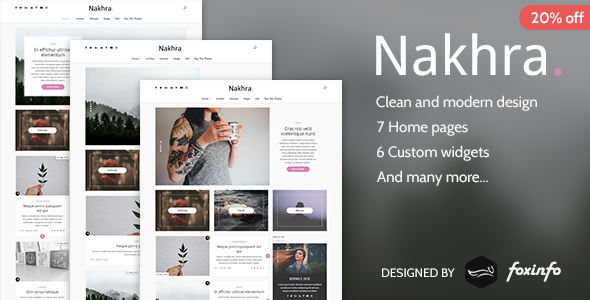 Download Nakhra - Modern Personal WordPress Blog Theme