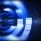 Blurry Blue Cylinder Revolves and Emits Light Lens Flare - VideoHive Item for Sale
