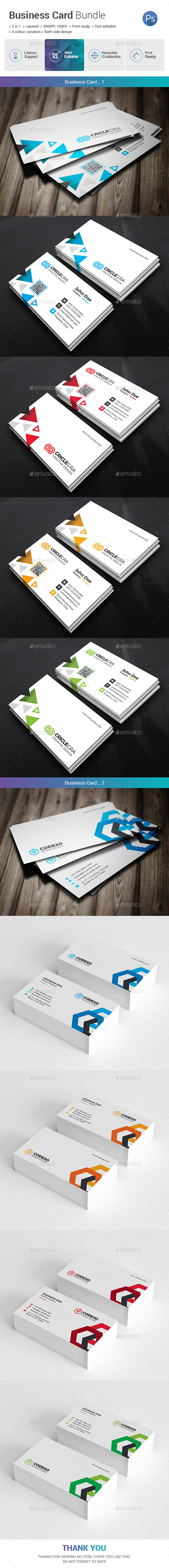 GraphicRiver Business Card Bundle 2 in 1 21069941