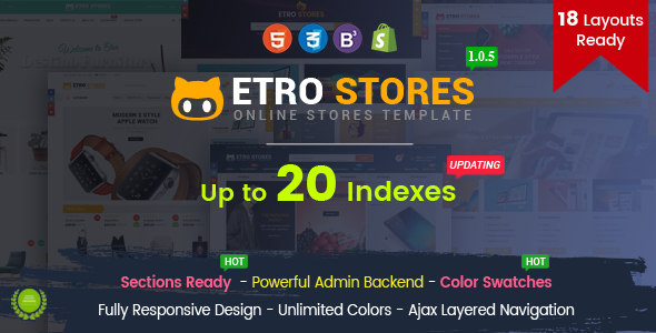 EtroStore - Responsive Multipurpose eCommerce Shopify Theme with 18 Layouts Ready - Shopify eCommerce