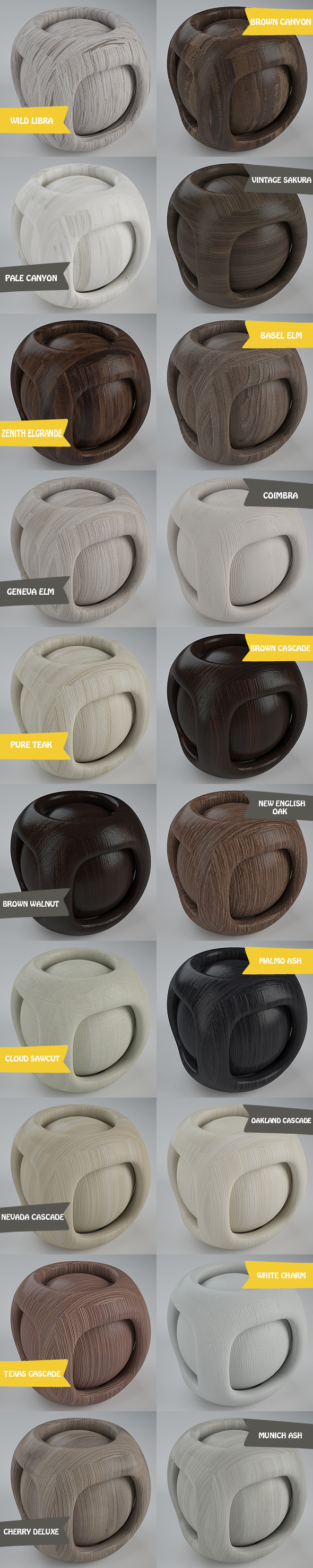 Real Plywood Pack 1 (20 Vray Material) - 3DOcean Item for Sale