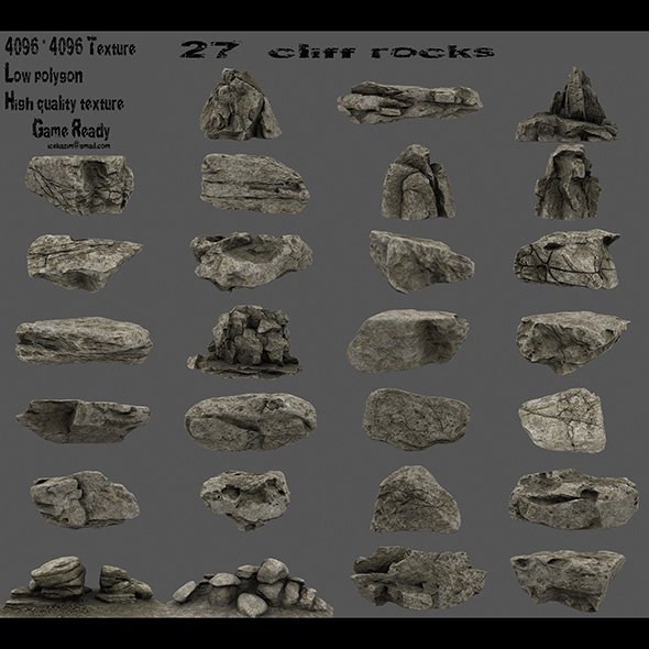 3DOcean cliff rocks 21070013