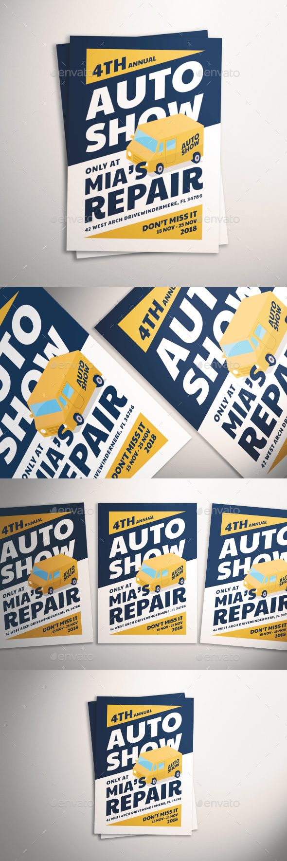 GraphicRiver Auto Show Flyer 21070017