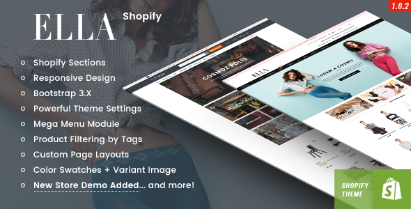 Image of Ella - Responsive Shopify Template (Sections Ready)