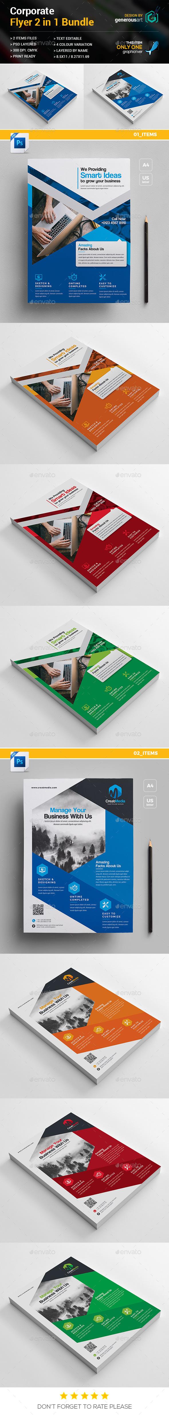 GraphicRiver Flyer Bundle 2 in 1 21070075
