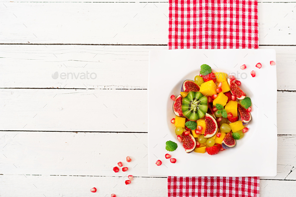 Platter fruits and berries - Stock Photo - Images