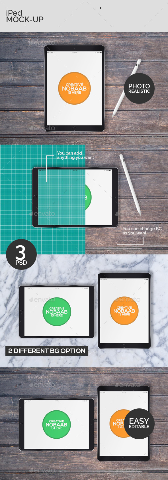 GraphicRiver iPed Mock-Ups 21070123