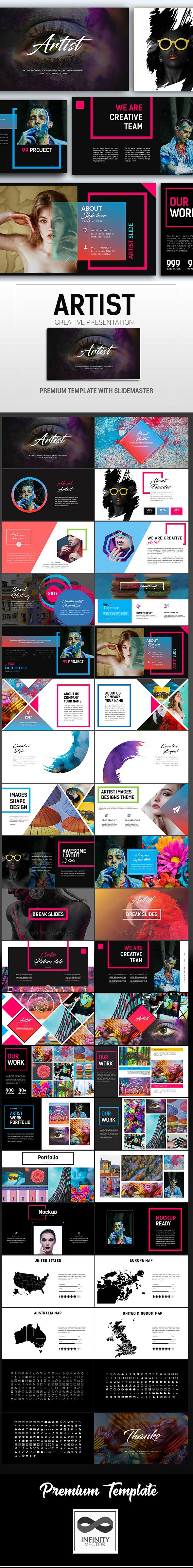 Artist Creative Presentation Keynote - Keynote Templates Presentation Templates