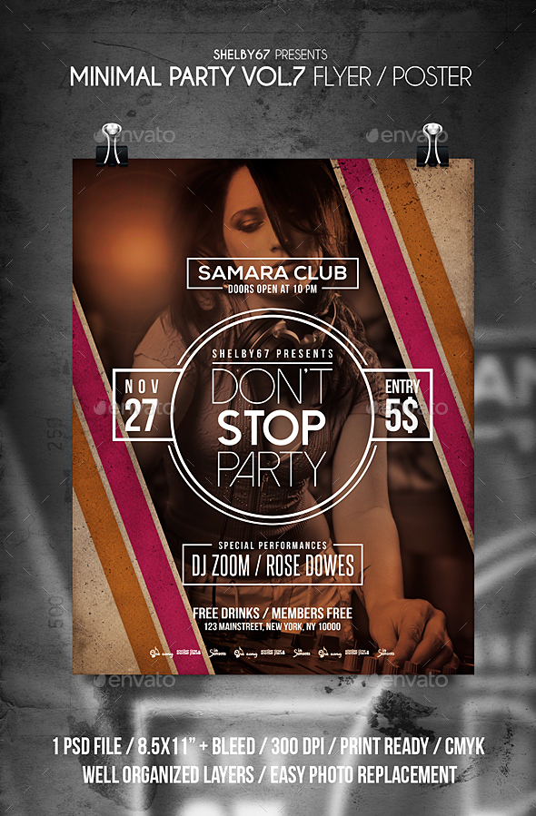 GraphicRiver Minimal Party Flyer Vol 7 21070295