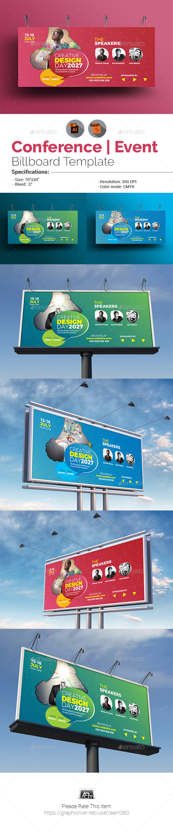 Conference / Event Billboard - Signage Print Templates
