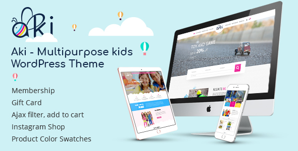 Aki - Multipurpose Kids WordPress Theme - Children Retail