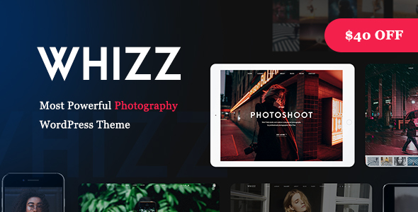 Whizz - Responsive Photography Portfolio WordPress Theme
