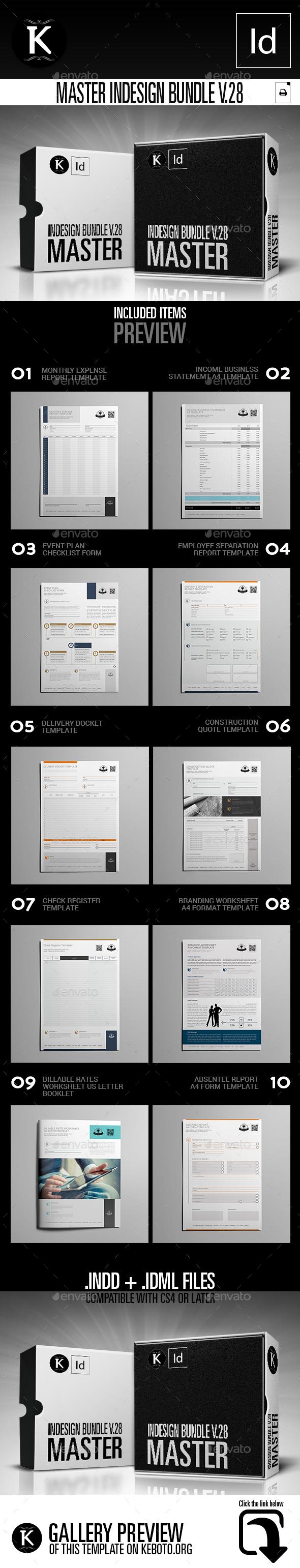 Master inDesign Bundle v.28 - Miscellaneous Print Templates