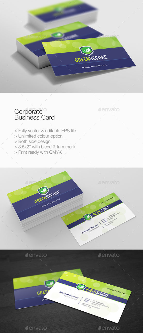 GraphicRiver Corporate Simple Business Card 21070532