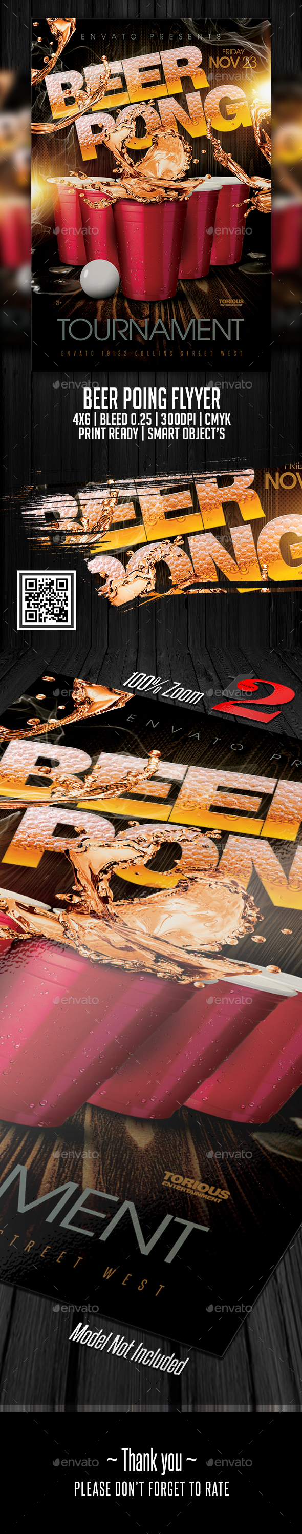 Beer Pong Flyer Template - Clubs & Parties Events