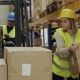 Woman Warehouse Worker Loading Boxes - VideoHive Item for Sale