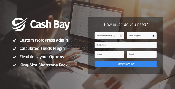 Cash Bay � Paycheck Loans, Bank & Finance Theme
