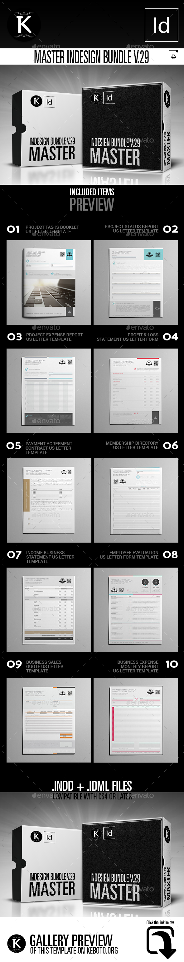 Master inDesign Bundle v.29 - Miscellaneous Print Templates