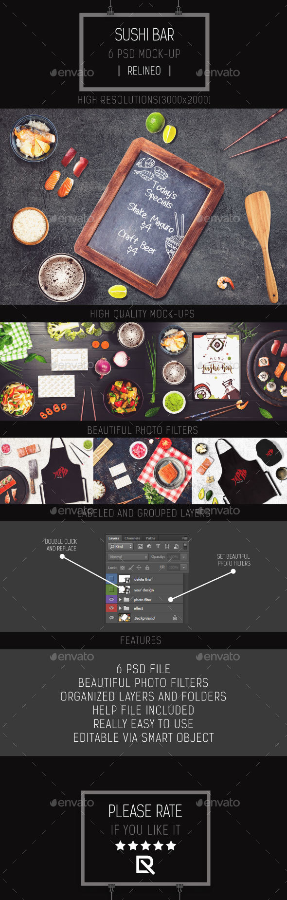 Sushi Bar Mock-up Pack Vol.3 - Miscellaneous Product Mock-Ups