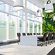 Meeting Hall In Business Center With Green Wall - GraphicRiver Item for Sale