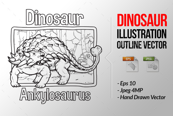 GraphicRiver Dinosaur Vector Ankylosaurus 21070930