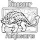 Dinosaur Vector - Ankylosaurus
