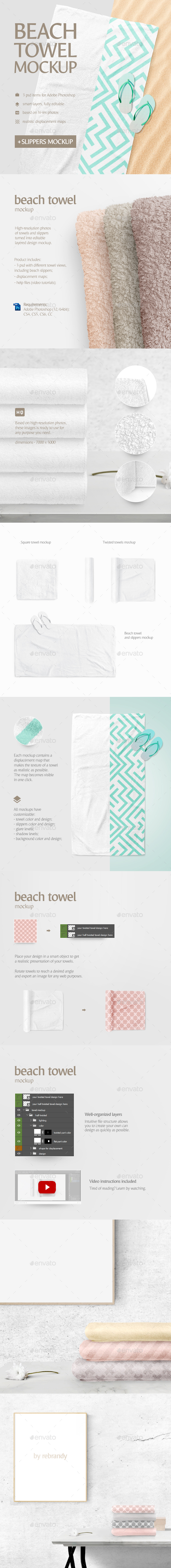 Beach Towel Mockup - Product Mock-Ups Graphics