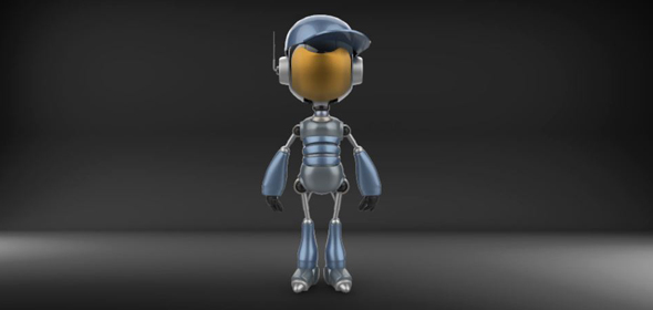 3DOcean Little robot guy 21070997