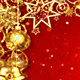 Christmas Red and Gold Background - VideoHive Item for Sale
