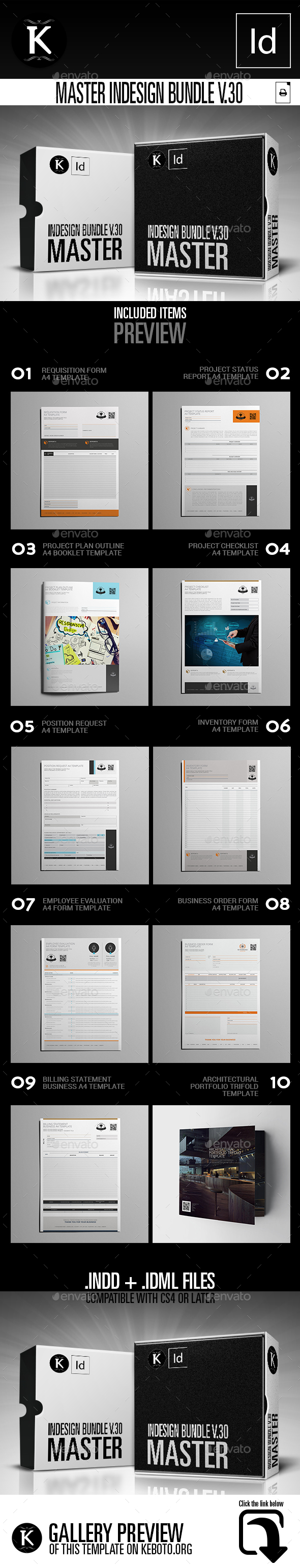 Master inDesign Bundle v.30 - Miscellaneous Print Templates