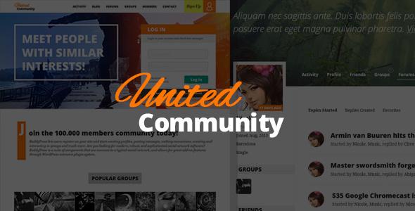 UnitedCommunity - BuddyPress Theme - BuddyPress WordPress
