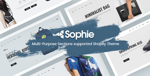 Sophie -  Responsive Clothing, Shoes, Furniture, Fashion, Electronics, Bags  Shopify Theme