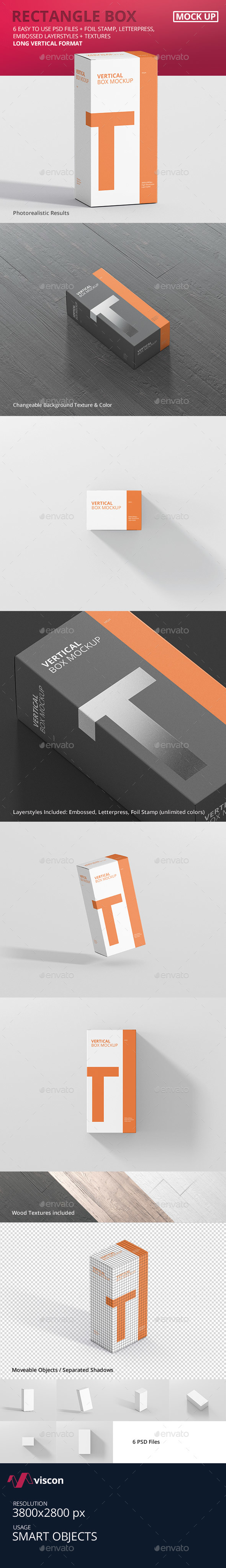 GraphicRiver Box Mockup Long Vertical Rectangle 21071216