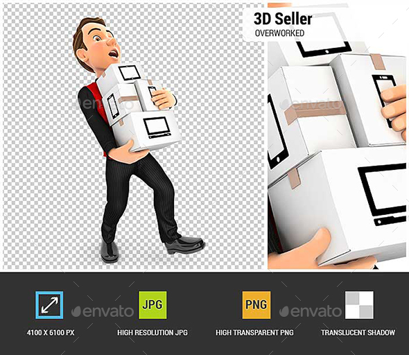 GraphicRiver 3D Seller Overworked 21071217