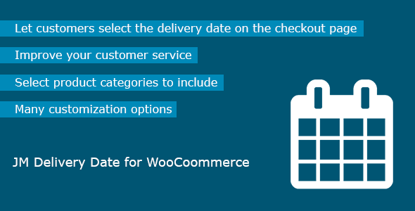 Delivery Date for WooCommerce - CodeCanyon Item for Sale
