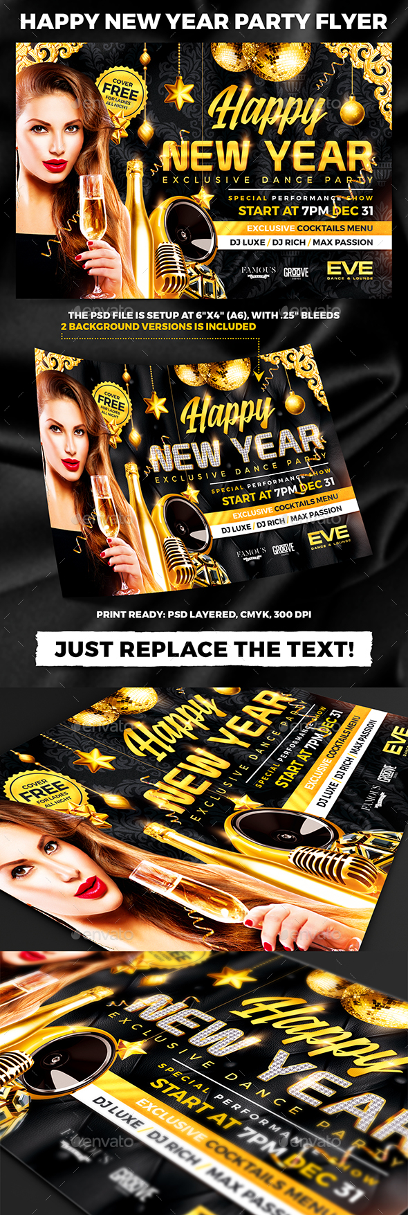 Happy New Year Party Flyer - Holidays Events