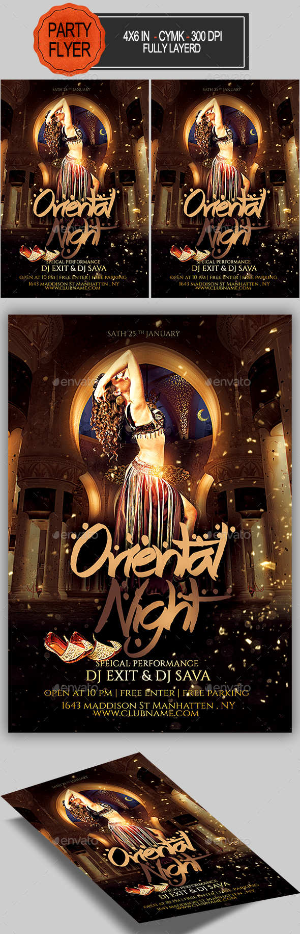 GraphicRiver Oriental Night Flyer 21071573